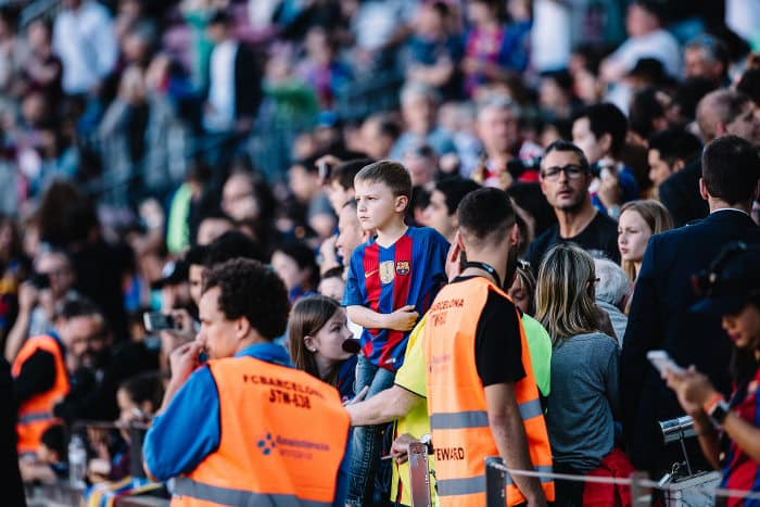 En el estadio Camp Nou